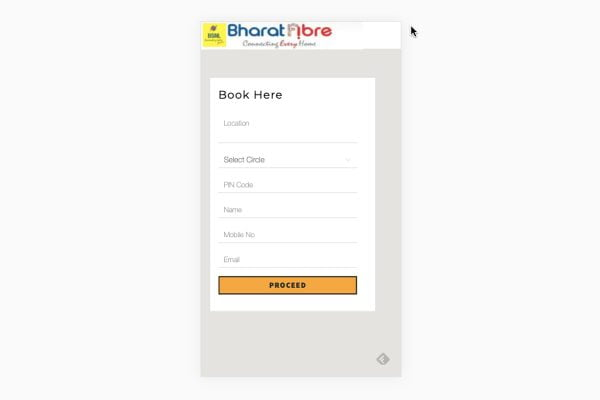 BSNL Launched BookMyFiber Portal