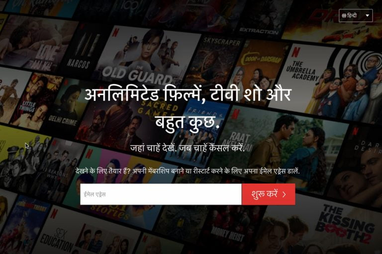 Netflix launches Hindi user interface in India
