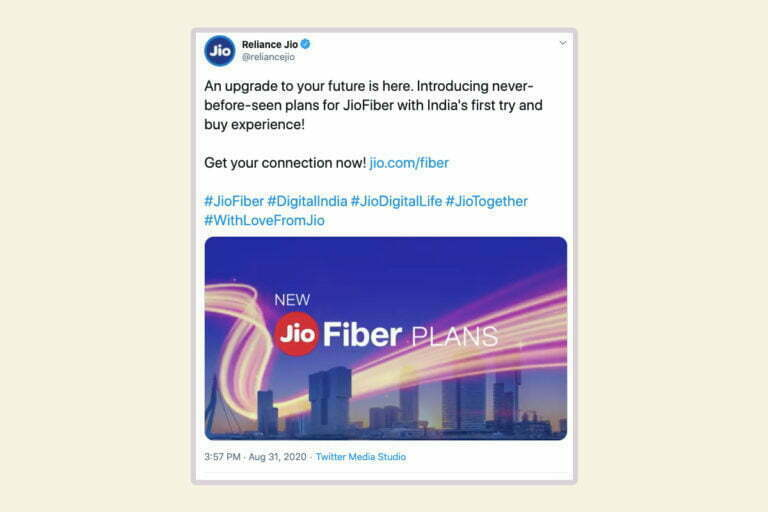 JioFibre Rolls Out New Unlimited Broadband Plans